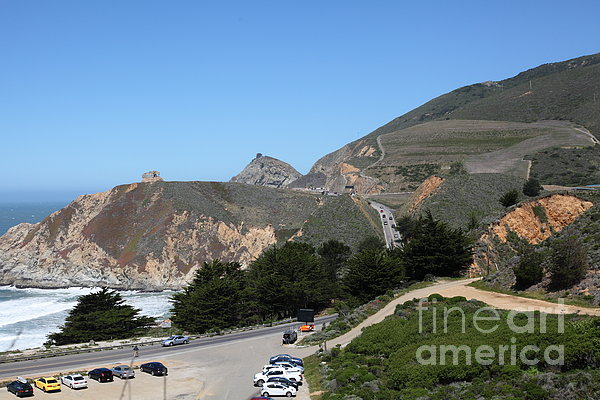 Gray Whale Cove State Beach Montara California 5d22614 Print by Wingsdomain Art and Photography