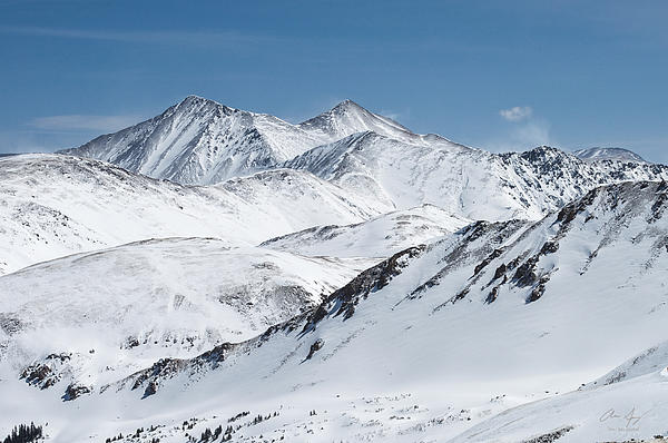 Grays And Torreys From Loveland Ski Area Print by Aaron Spong