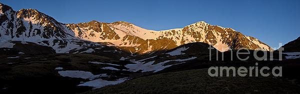 Grays Peak And Torreys Peak Panorama Print by Benjamin Reed