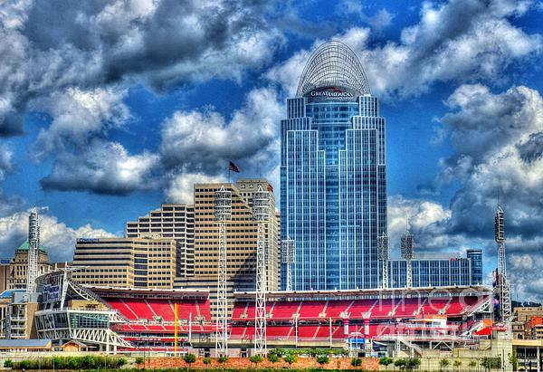 Great American Ballpark Print by Mel Steinhauer
