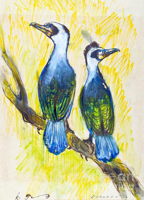 Great Cormorant Print by Kurt Tessmann