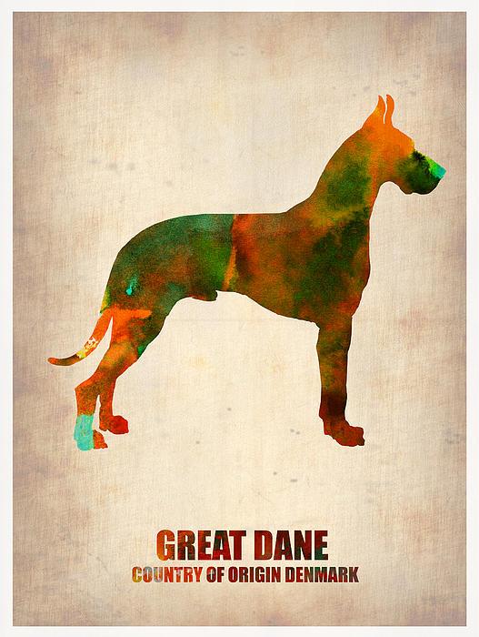 Great Dane Poster Print by Naxart Studio