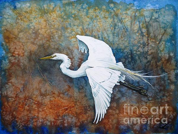Great Egret  Print by Zaira Dzhaubaeva