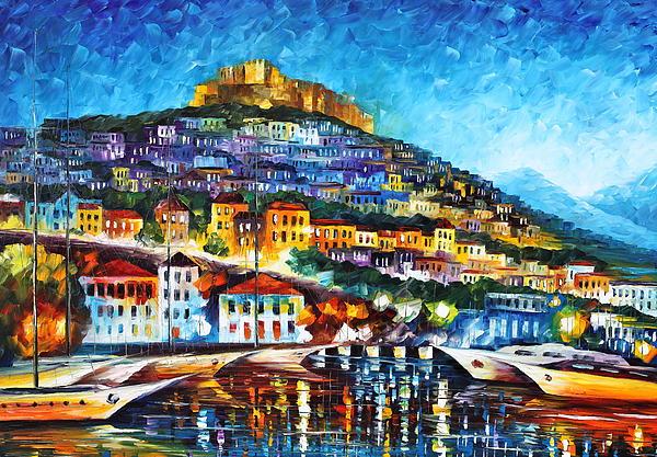 Greece Lesbos Island 2 Print by Leonid Afremov