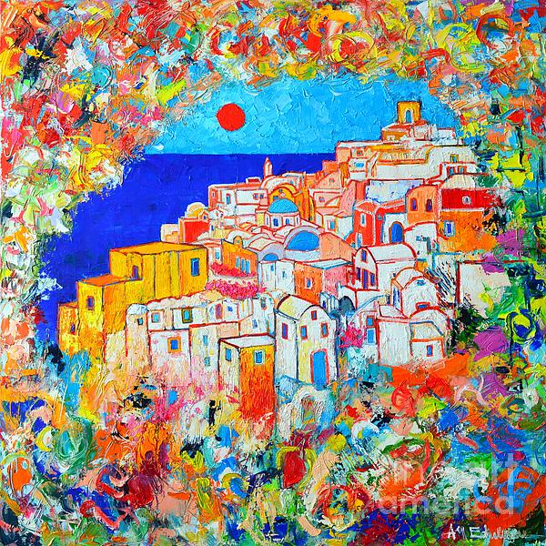 Ana Maria Edulescu - Greece - Santorini Island - Abstract Impression From Oia At Sunset - A Moment In Time