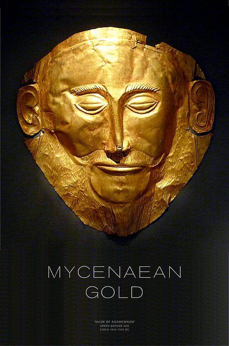 Greek Gold - Mycenaean Gold Print by Helena Kay