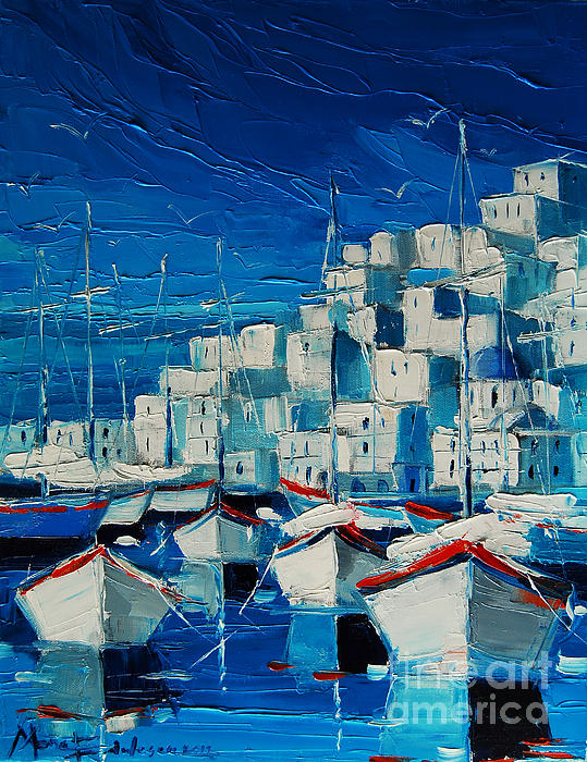 Emona Art - Greek Harbor