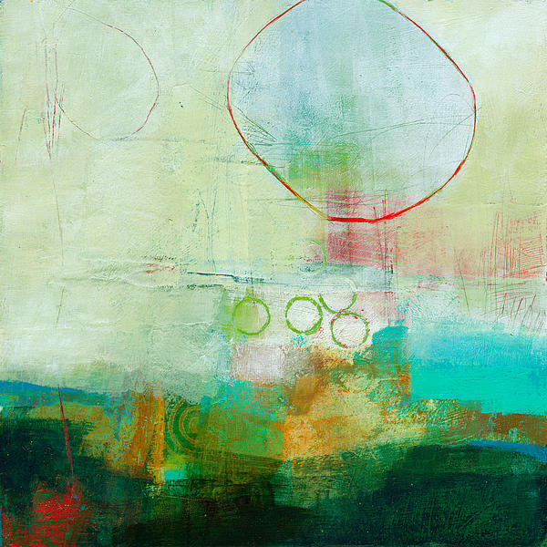 Green And Red 6 Print by Jane Davies