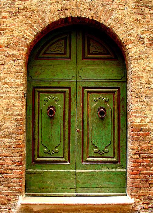 Green Door Print by Ramona Johnston