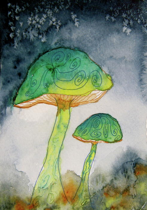 Green Dreams Print by Beverley Harper Tinsley