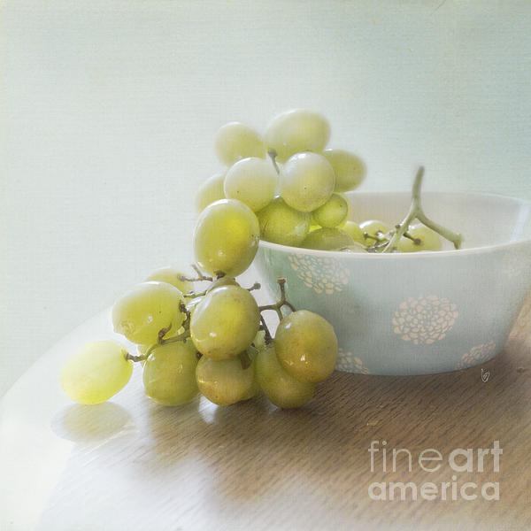 Green Grapes Print by Cindy Garber Iverson