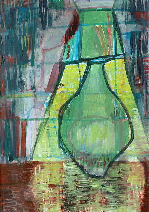 Green Lamp Print by Anon Artist