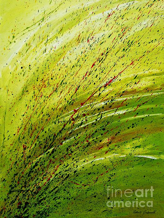 Green Landscape - Abstract Art Print by Ismeta Gruenwald