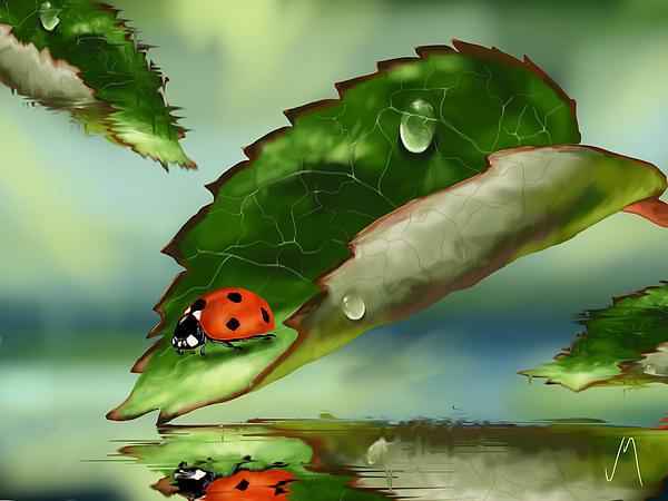 Green Leaf Print by Veronica Minozzi