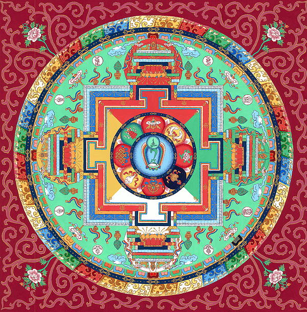 Ies Walker - Green Tara Mandala Thangka