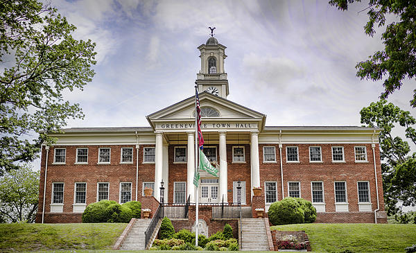 Greeneville Town Hall Print by Heather Applegate