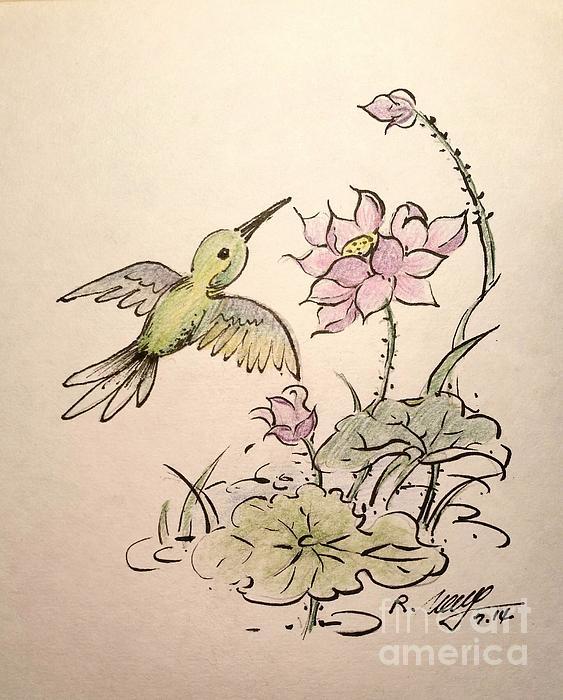 Rose Wang - Greeting Hummingbird