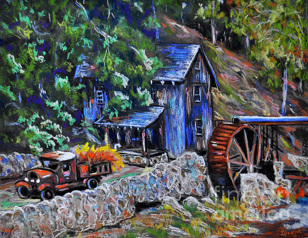 Greshams Mill Print by Judy Sprague