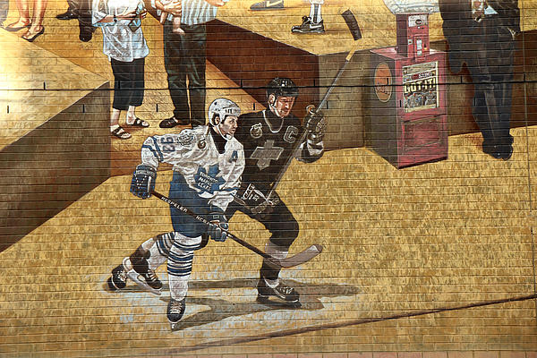 Gretzky And Gilmour 2 Print by Andrew Fare