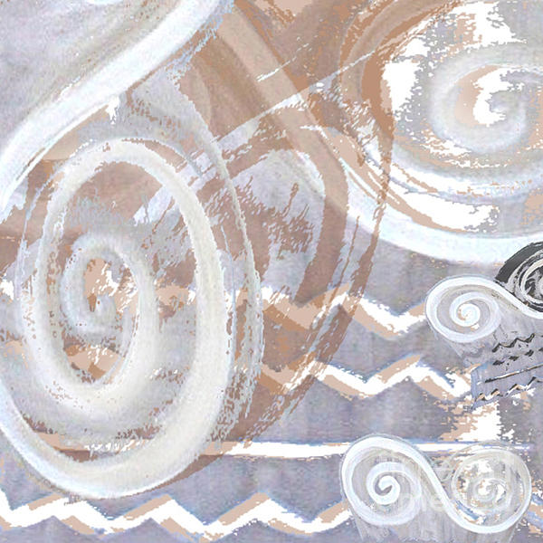 Grey Abstraction 2 Print by Eva-Maria Becker