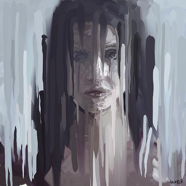 Grey Rain Print by Robert Wheater