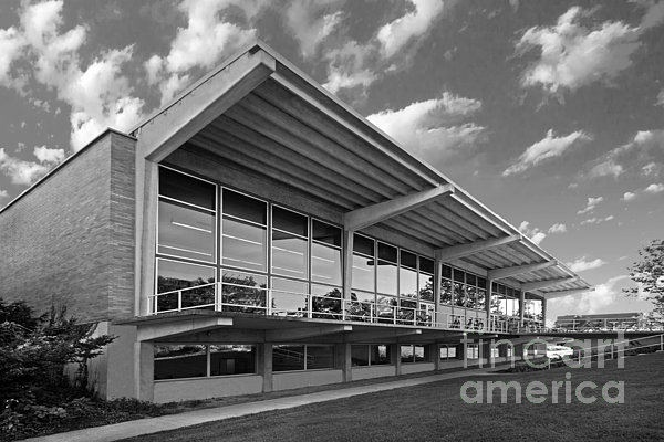Grinnell College Burling Library Print by University Icons
