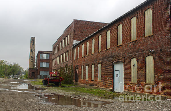 Grinnell Iowa - Aulding Building - 02 Print by Gregory Dyer