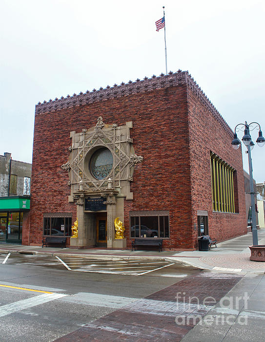 Grinnell Iowa - Louis Sullivan - Jewel Box Bank - 03 Print by Gregory Dyer