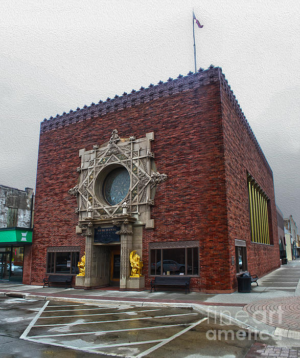 Grinnell Iowa - Louis Sullivan - Jewel Box Bank - 04 Print by Gregory Dyer