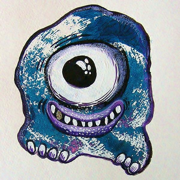 Grinning Monster Print by Nancy Mitchell