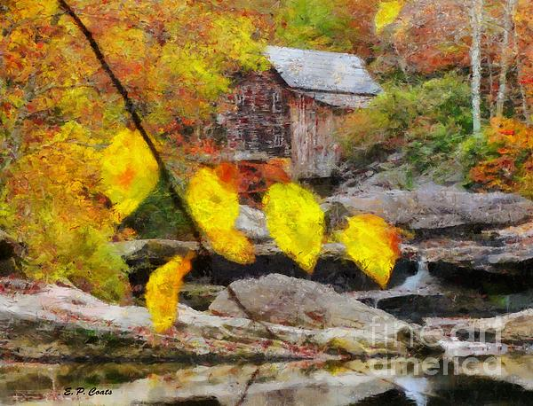 Grist Mill Print by Elizabeth Coats