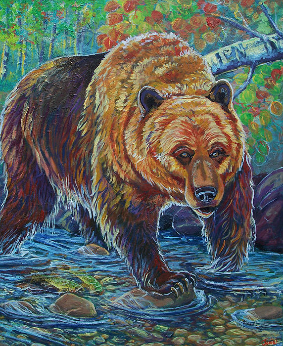 Grizzly Creek Print by Jenn Cunningham