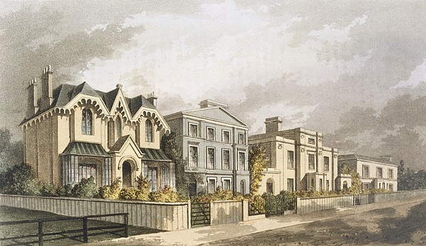 Group Of Villas In Herne Hill Print by English School