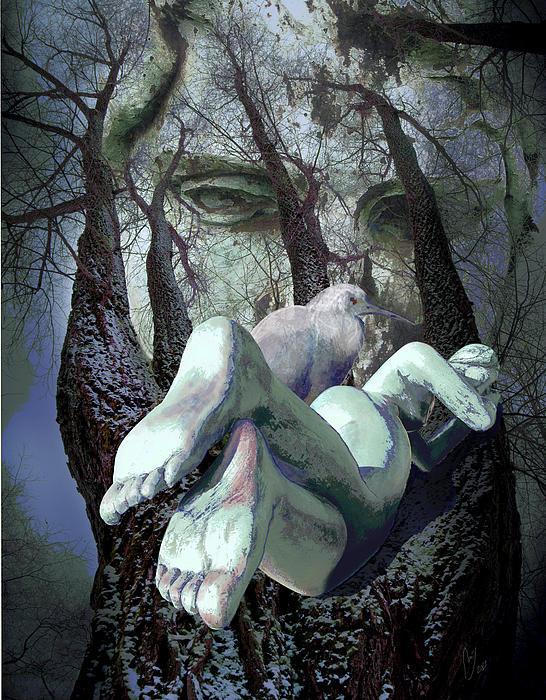 Guardians Of Dreams Print by Maria Jesus Hernandez