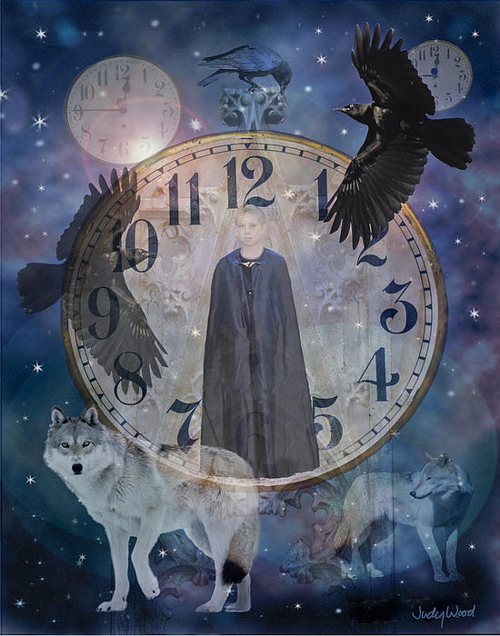 Guardians Of Time Print by Judy Wood