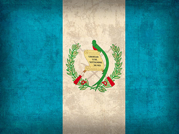 Guatemala Flag Vintage Distressed Finish Print by Design Turnpike
