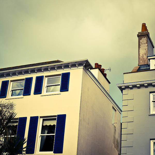 Guernsey Houses Print by Tom Gowanlock