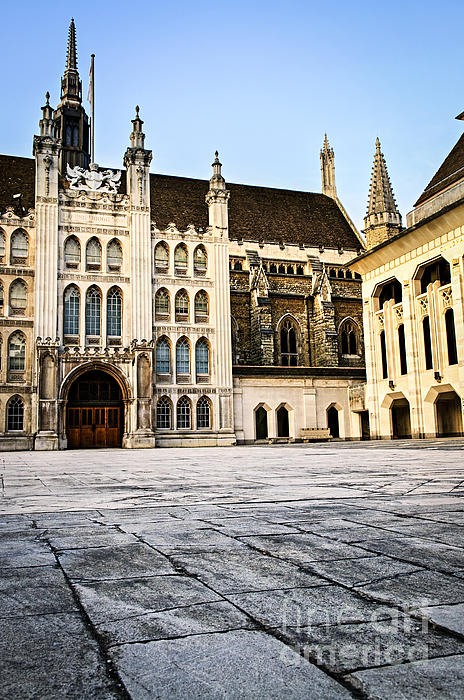 Guildhall Building And Art Gallery Print by Elena Elisseeva