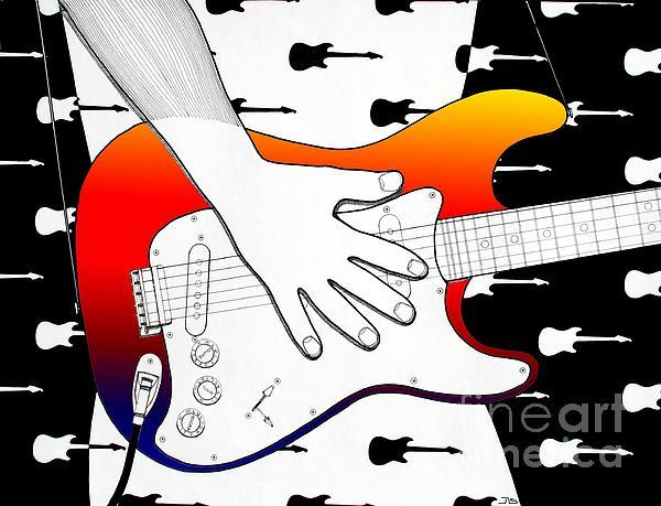 Guitar 1 Print by Joseph J Stevens