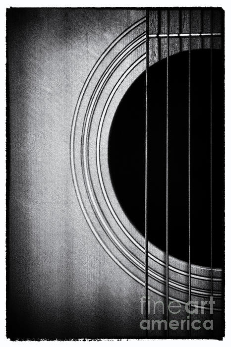 Guitar Film Noir Print by Natalie Kinnear