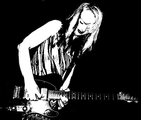 Guitar Girl Print by Chris Berry