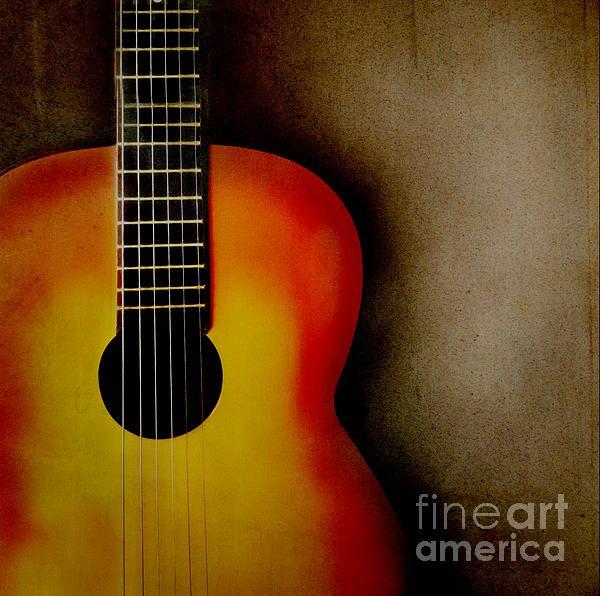 Guitar Print by Jelena Jovanovic