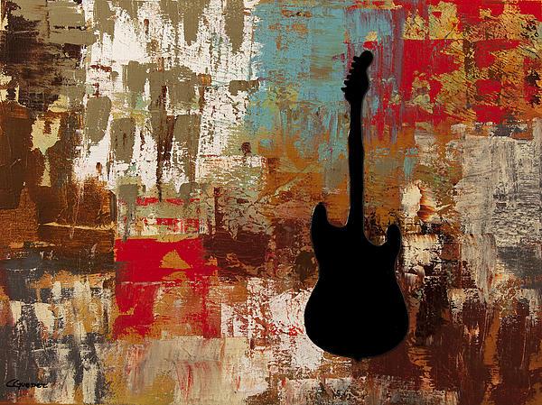 Guitar Solo Print by Carmen Guedez