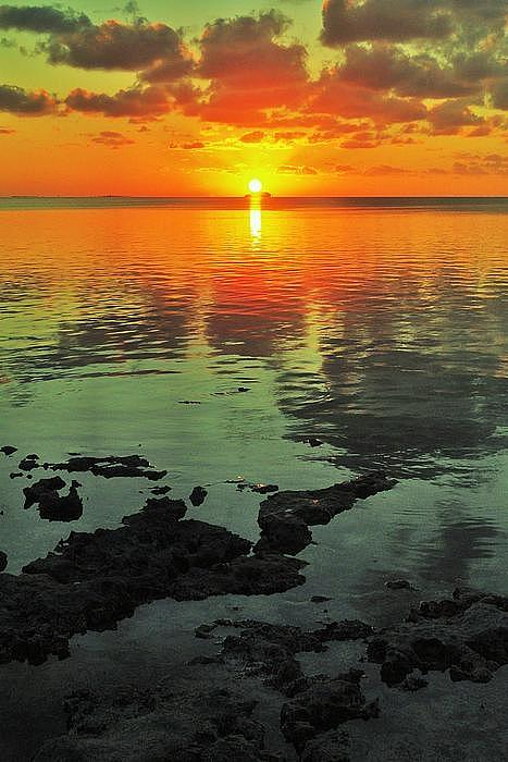 Gulf Sunset Print by Benjamin Yeager