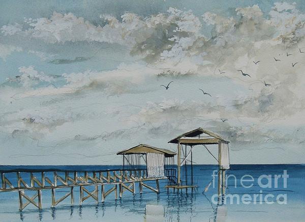 Gerald Bienvenu - Gulls and Piers
