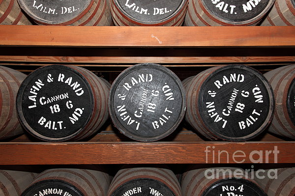 Gun Powder Room At San Francisco Fort Point 5d21511 Print by Wingsdomain Art and Photography
