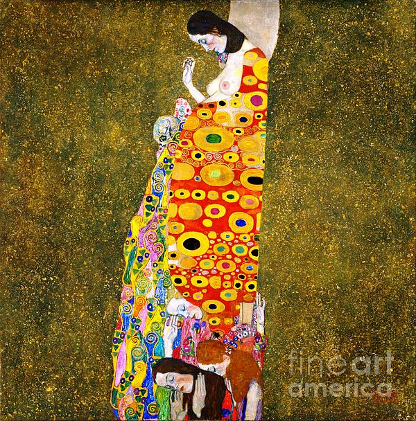 Gustav Klimt - Hope II Print by Pg Reproductions