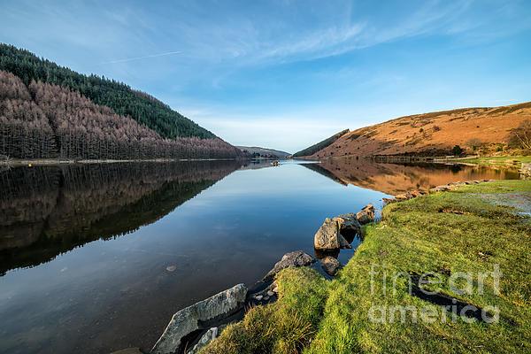 Gwydyr Forest Lake Print by Adrian Evans