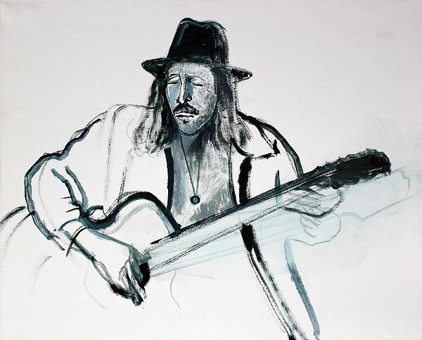 Gypsy Guitarist Print by Asha Carolyn Young