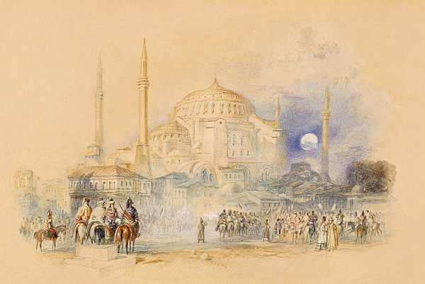Hagia Sofia Print by Joseph Mallord William Turner
